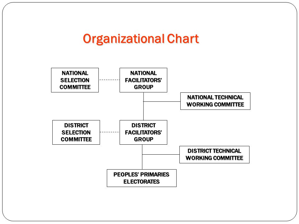 Organizational Chart NATIONAL SELECTION COMMITTEE