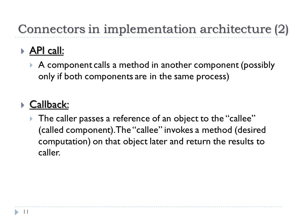 Connectors in implementation architecture (2)