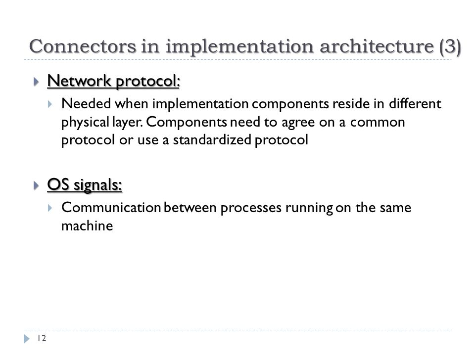 Connectors in implementation architecture (3)