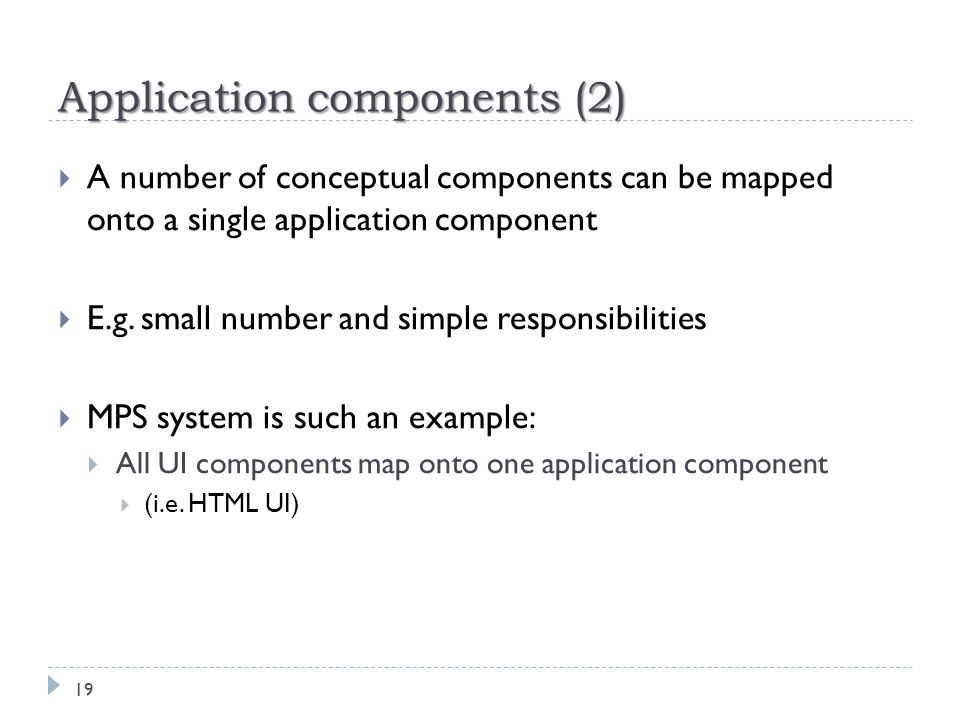 Application components (2)