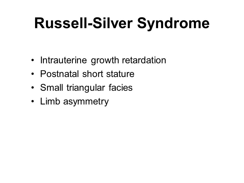 Russell-Silver Syndrome