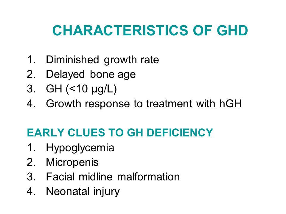 CHARACTERISTICS OF GHD