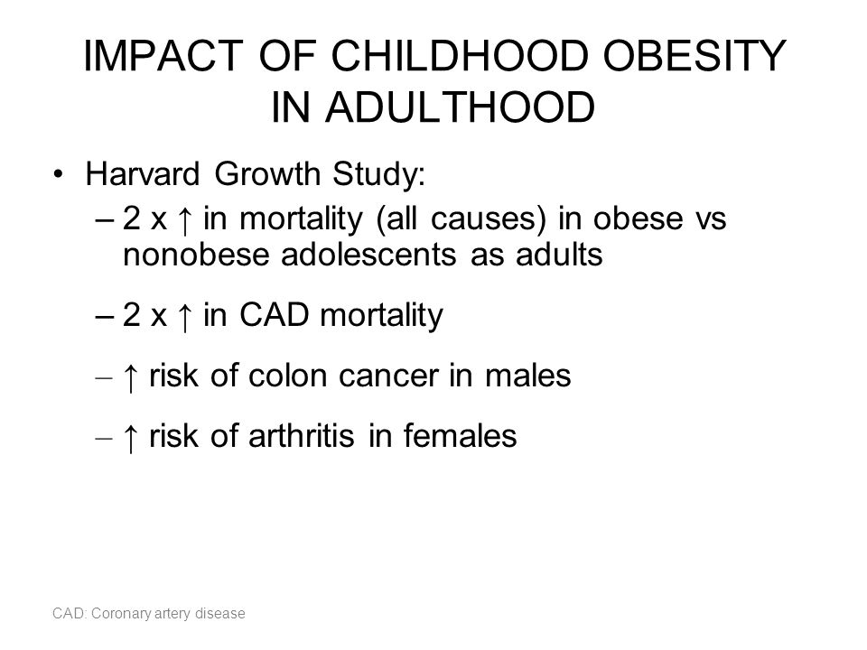 IMPACT OF CHILDHOOD OBESITY IN ADULTHOOD
