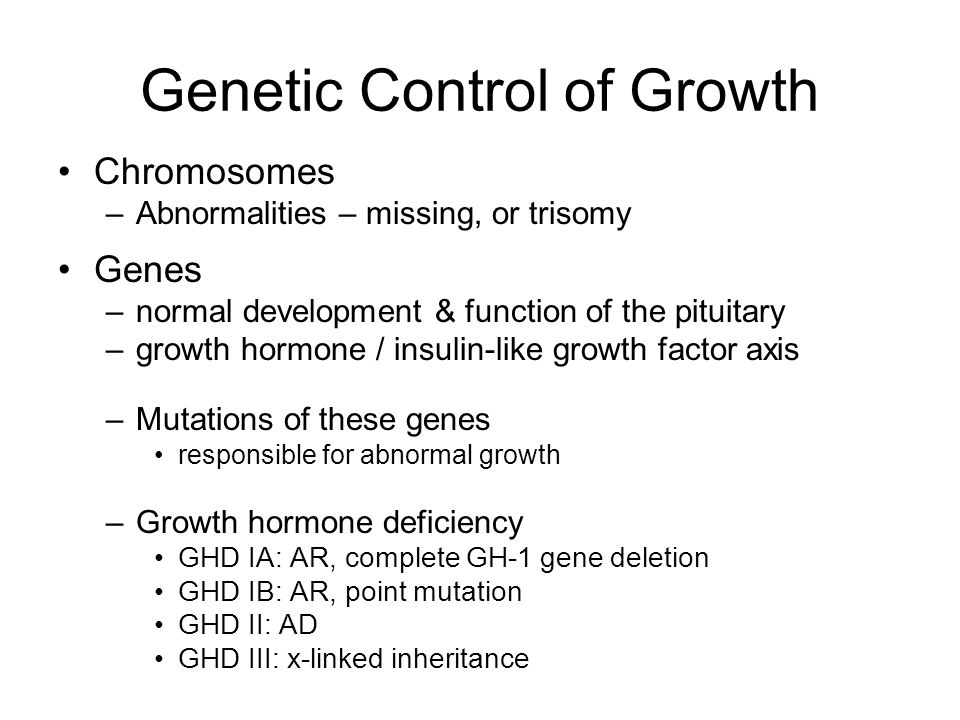 Genetic Control of Growth