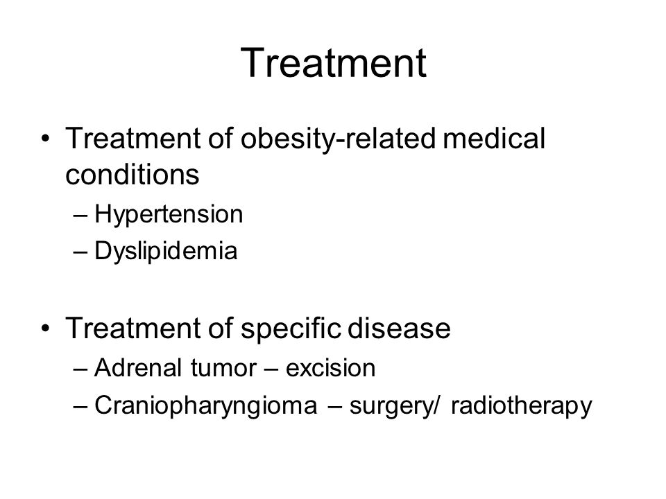 Treatment Treatment of obesity-related medical conditions