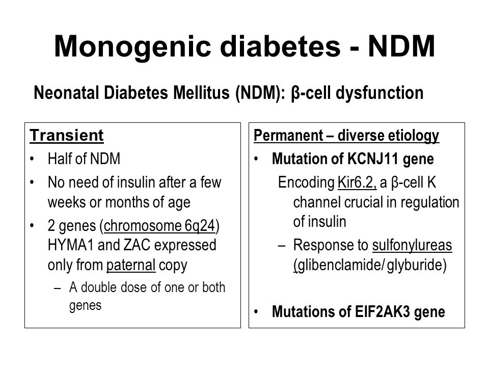 Monogenic diabetes - NDM