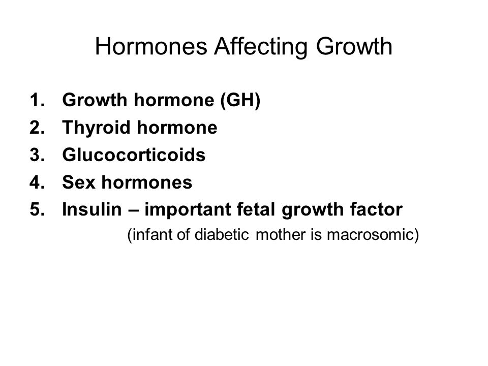 Hormones Affecting Growth
