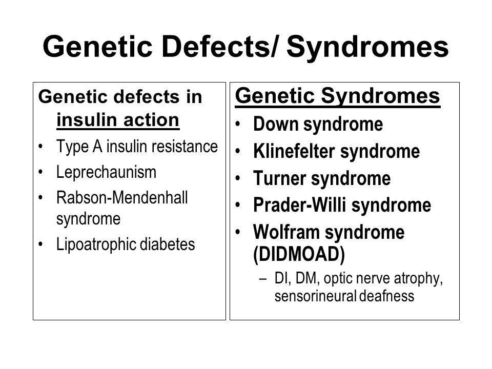Genetic Defects/ Syndromes