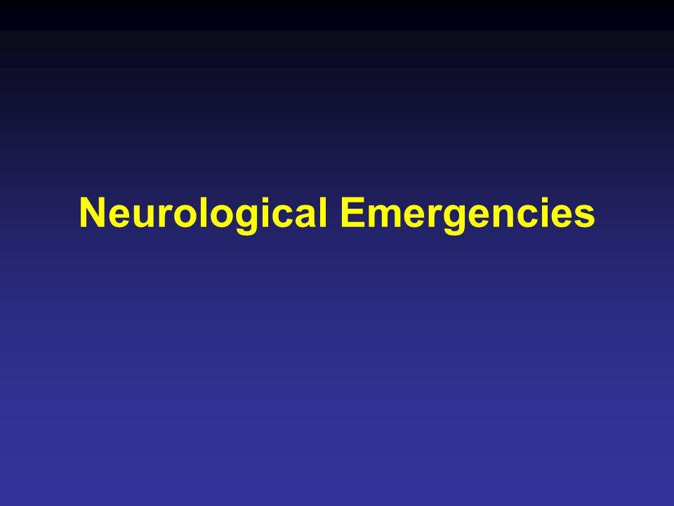 Neurological Emergencies