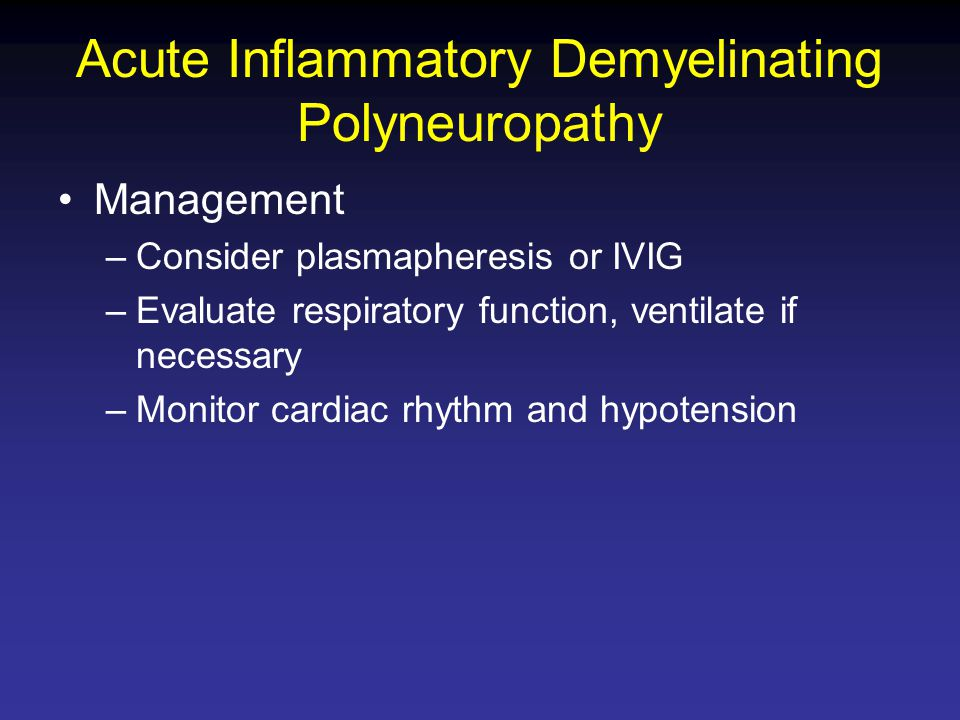 Acute Inflammatory Demyelinating Polyneuropathy