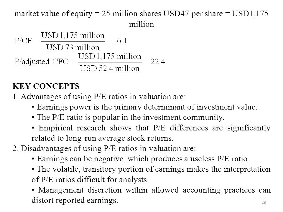 market value of equity = 25 million shares USD47 per share = USD1,175 million