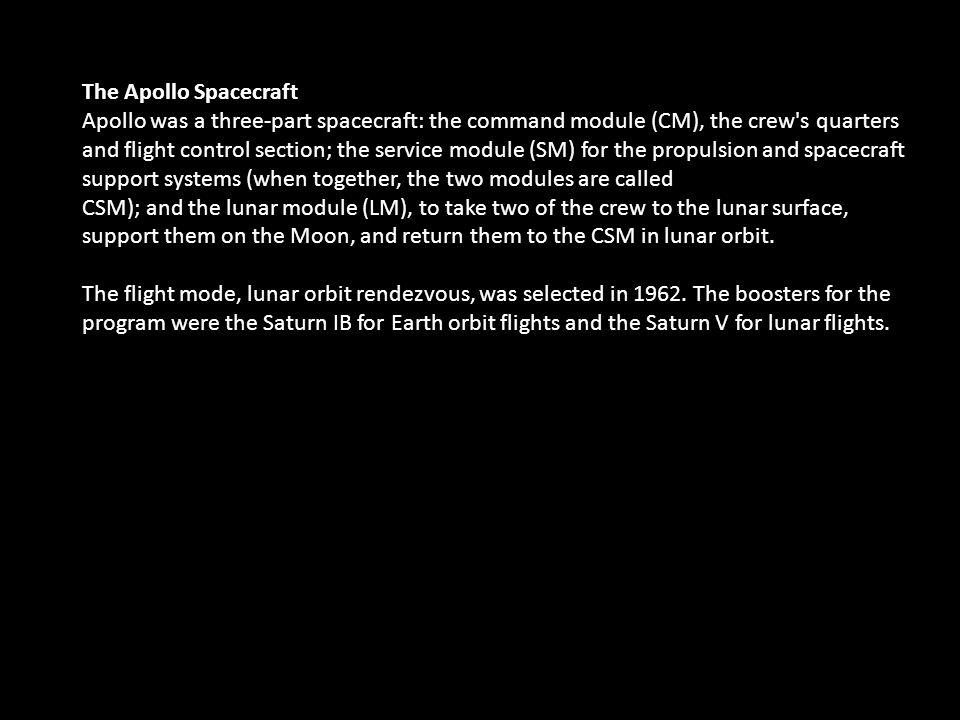 The Apollo Spacecraft
