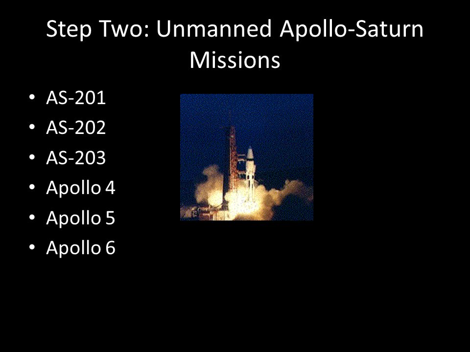 Step Two: Unmanned Apollo-Saturn Missions