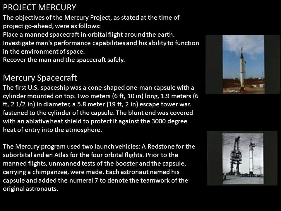 PROJECT MERCURY Mercury Spacecraft