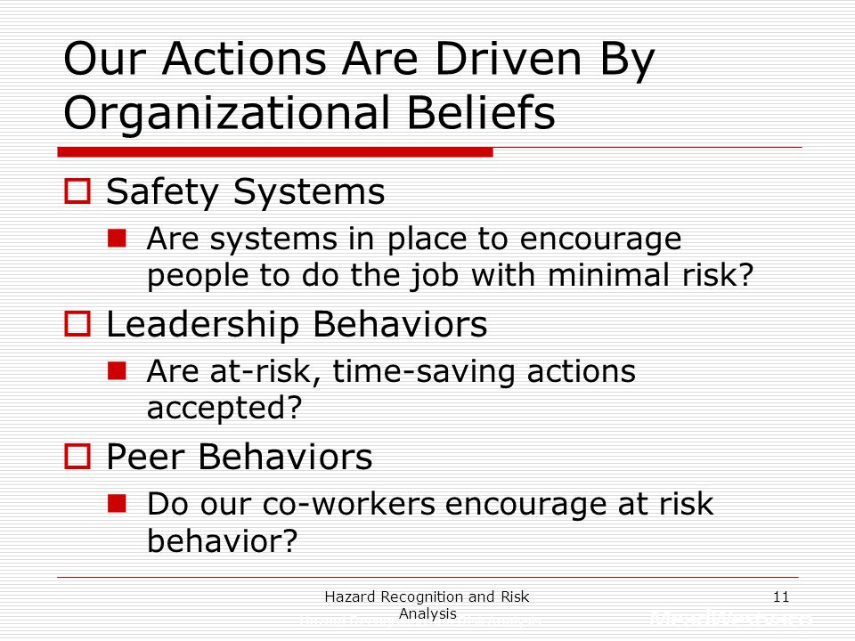 Our Actions Are Driven By Organizational Beliefs