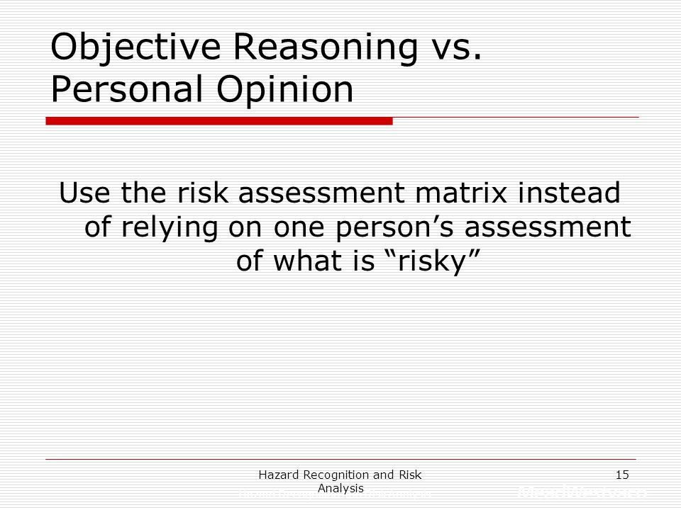 Objective Reasoning vs. Personal Opinion