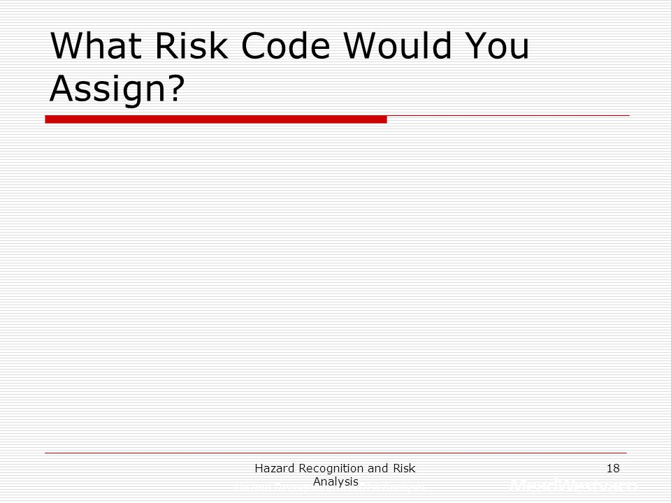 What Risk Code Would You Assign