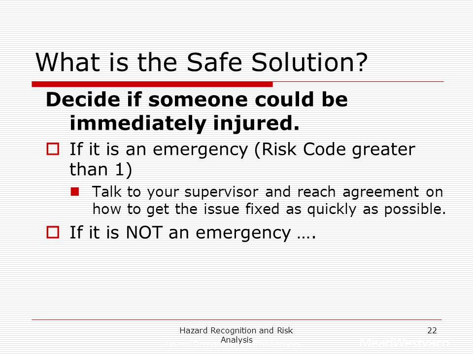What is the Safe Solution