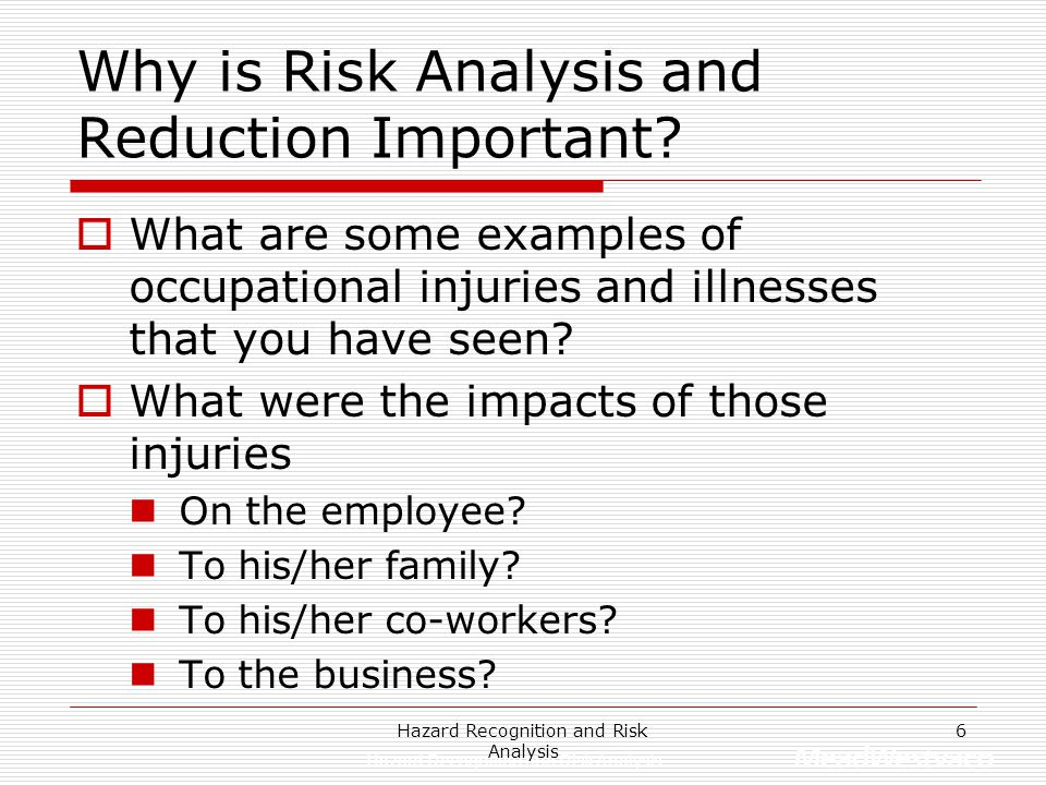 Why is Risk Analysis and Reduction Important