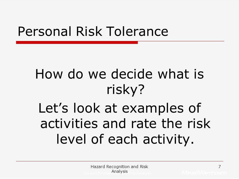 Personal Risk Tolerance