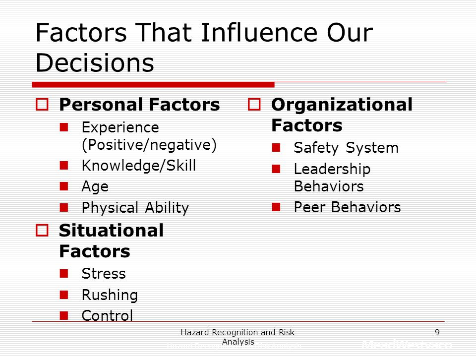 Factors That Influence Our Decisions