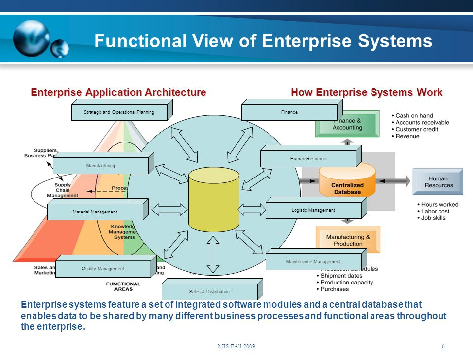 Functional View of Enterprise Systems