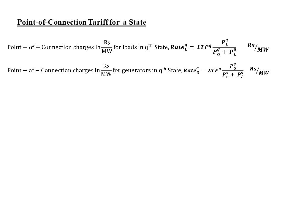 Point-of-Connection Tariff for a State