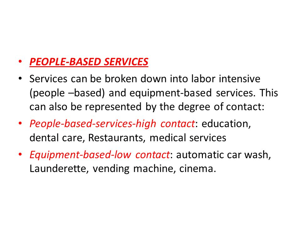 PEOPLE-BASED SERVICES