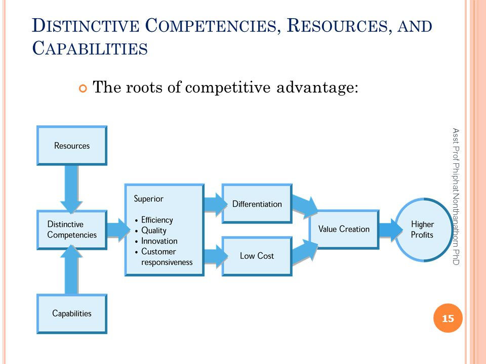 Distinctive Competencies, Resources, and Capabilities