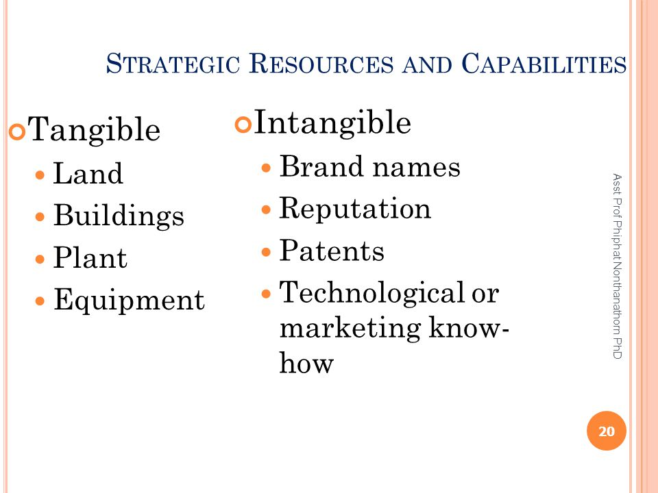 Strategic Resources and Capabilities