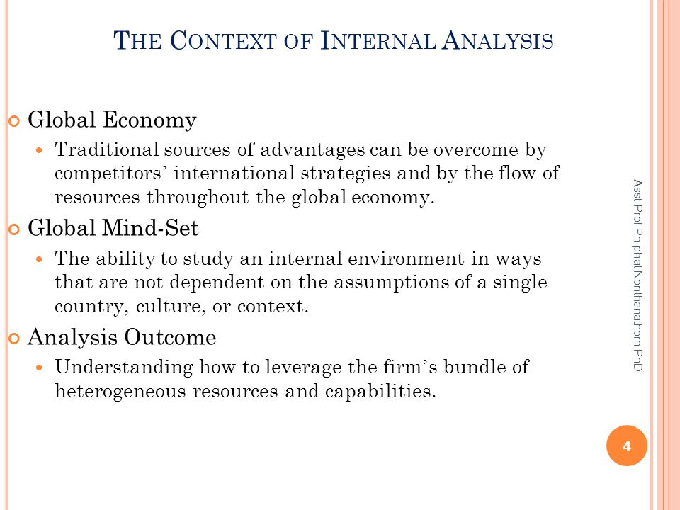 The Context of Internal Analysis