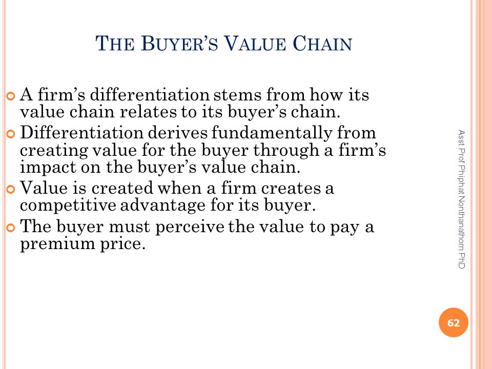 The Buyer's Value Chain