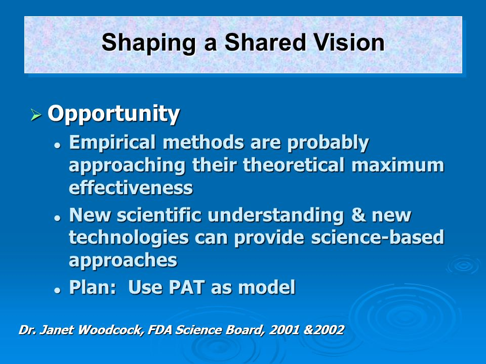 Shaping a Shared Vision