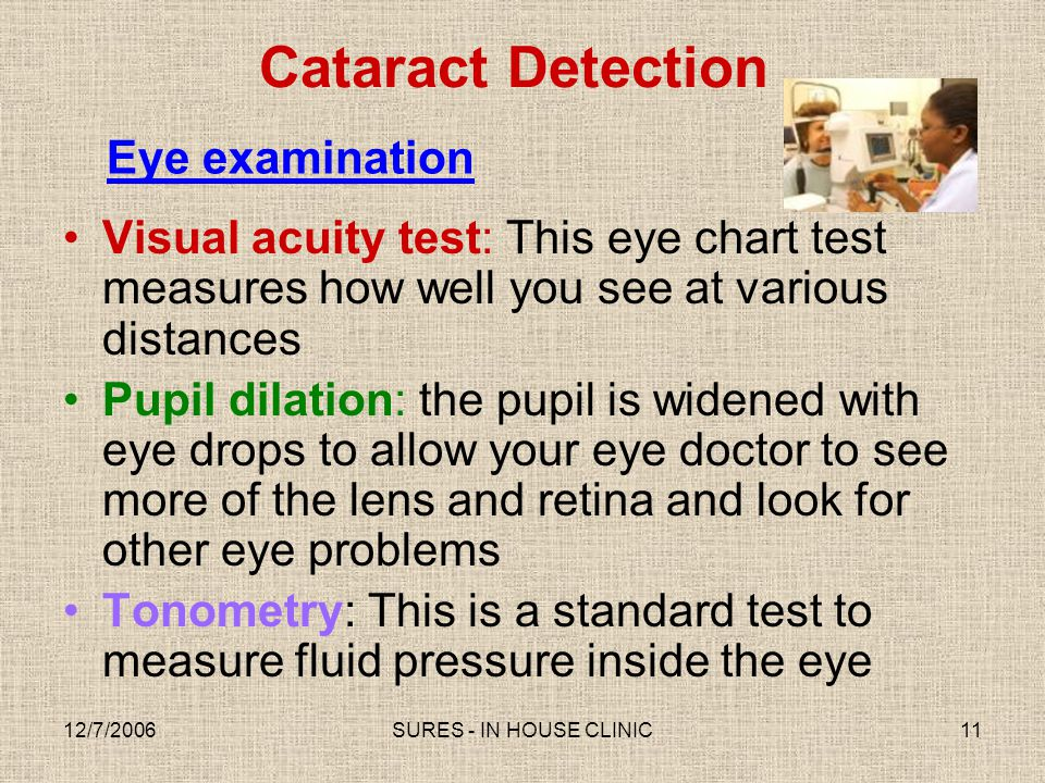 Cataract Detection Eye examination