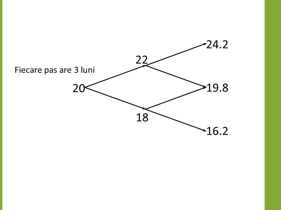 Exemplu cu doi paşi Fiecare pas are 3 luni 20 22 18 24.2 19.8 16.2