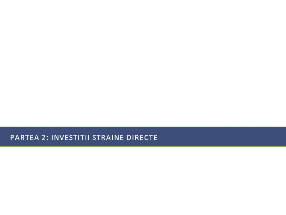 PARTEA 2: Investitii straine directe