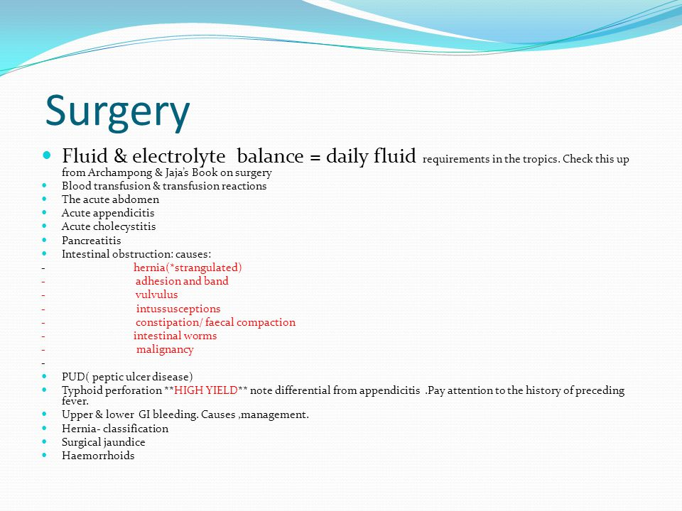 Surgery Fluid & electrolyte balance = daily fluid requirements in the tropics. Check this up from Archampong & Jaja's Book on surgery.