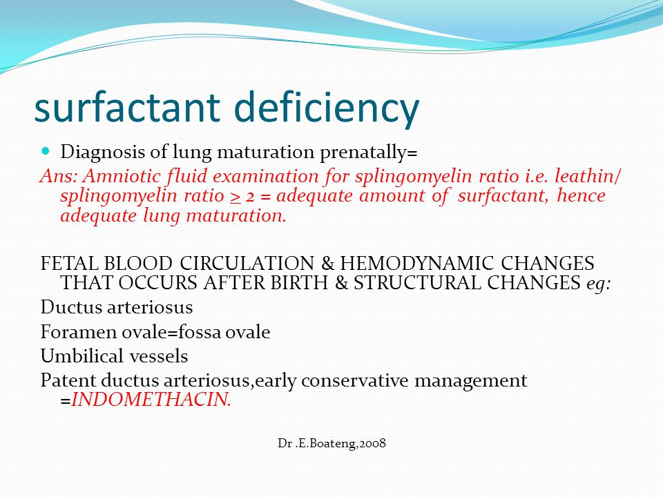 surfactant deficiency