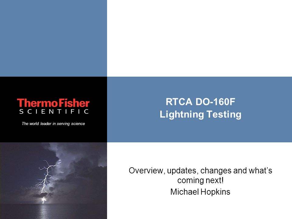 RTCA DO-160F Lightning Testing