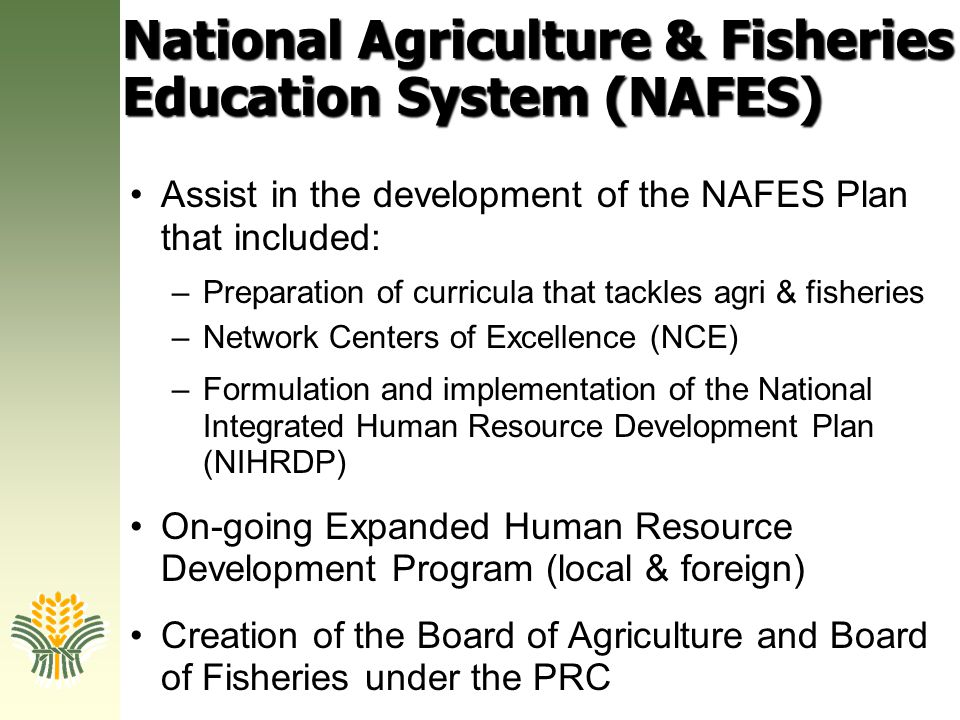 National Agriculture & Fisheries Education System (NAFES)
