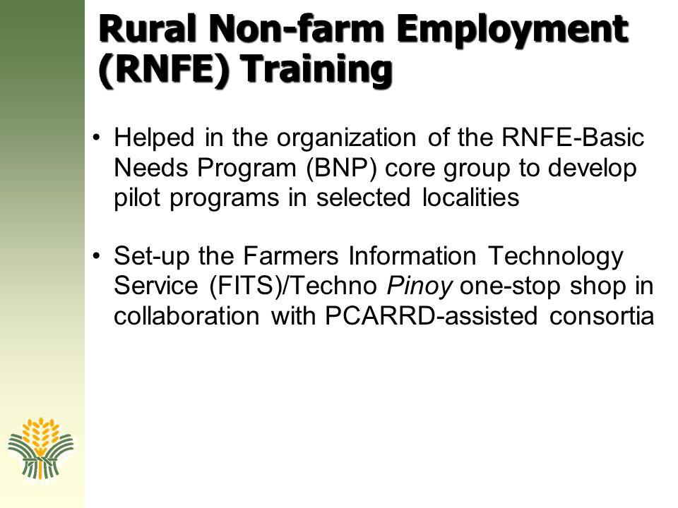 Rural Non-farm Employment (RNFE) Training