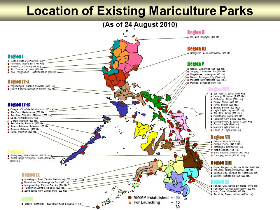 Location of Existing Mariculture Parks