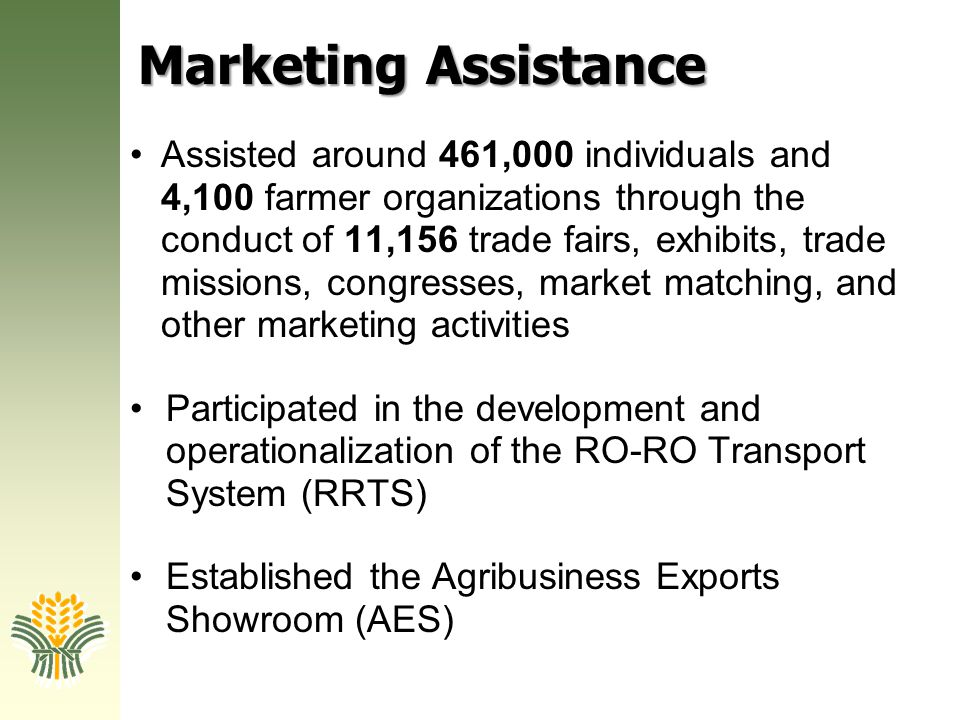 Marketing Assistance
