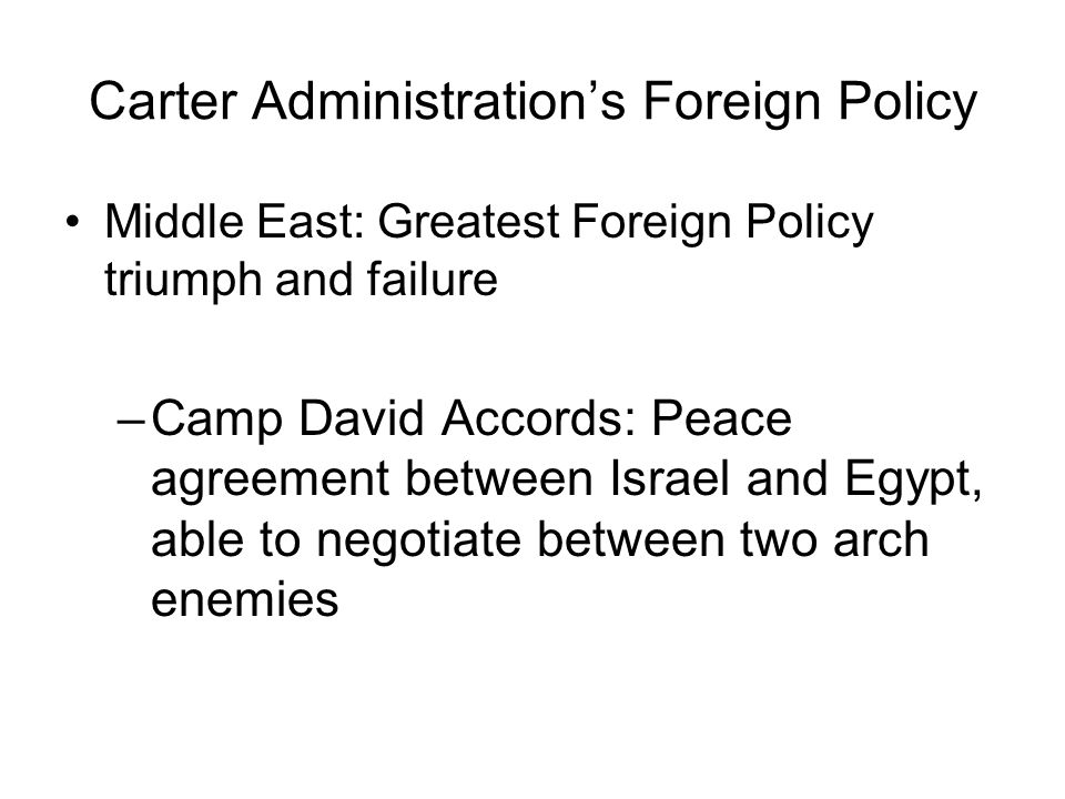 Carter Administration's Foreign Policy