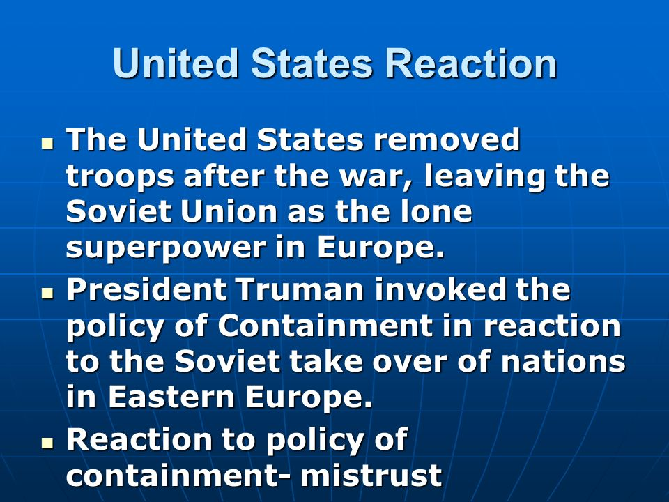 United States Reaction