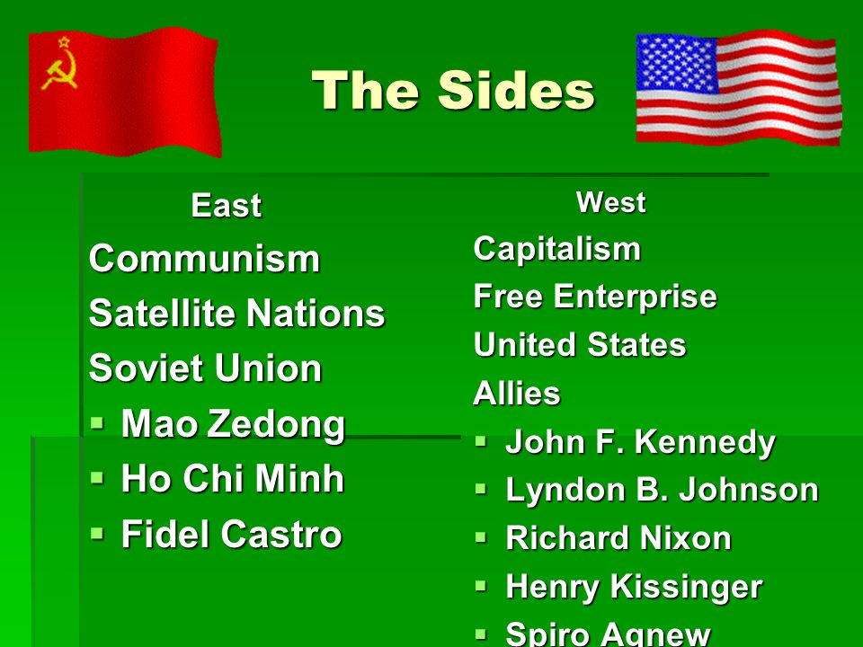The Sides Communism Satellite Nations Soviet Union Mao Zedong