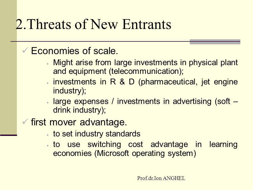 2.Threats of New Entrants