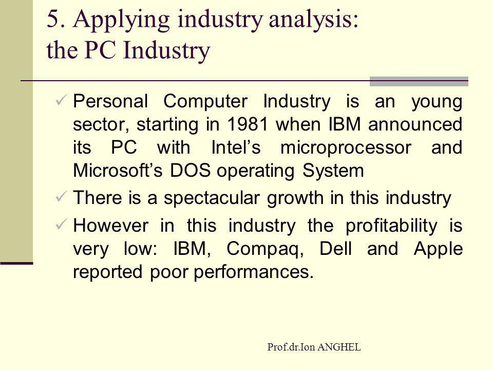 5. Applying industry analysis: the PC Industry