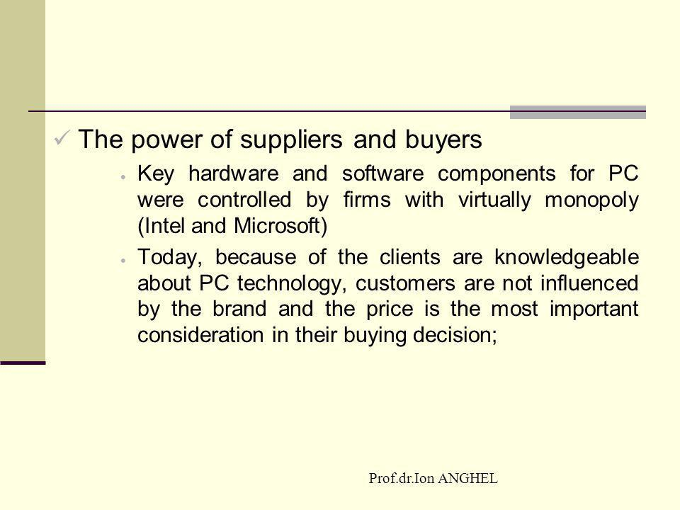 The power of suppliers and buyers