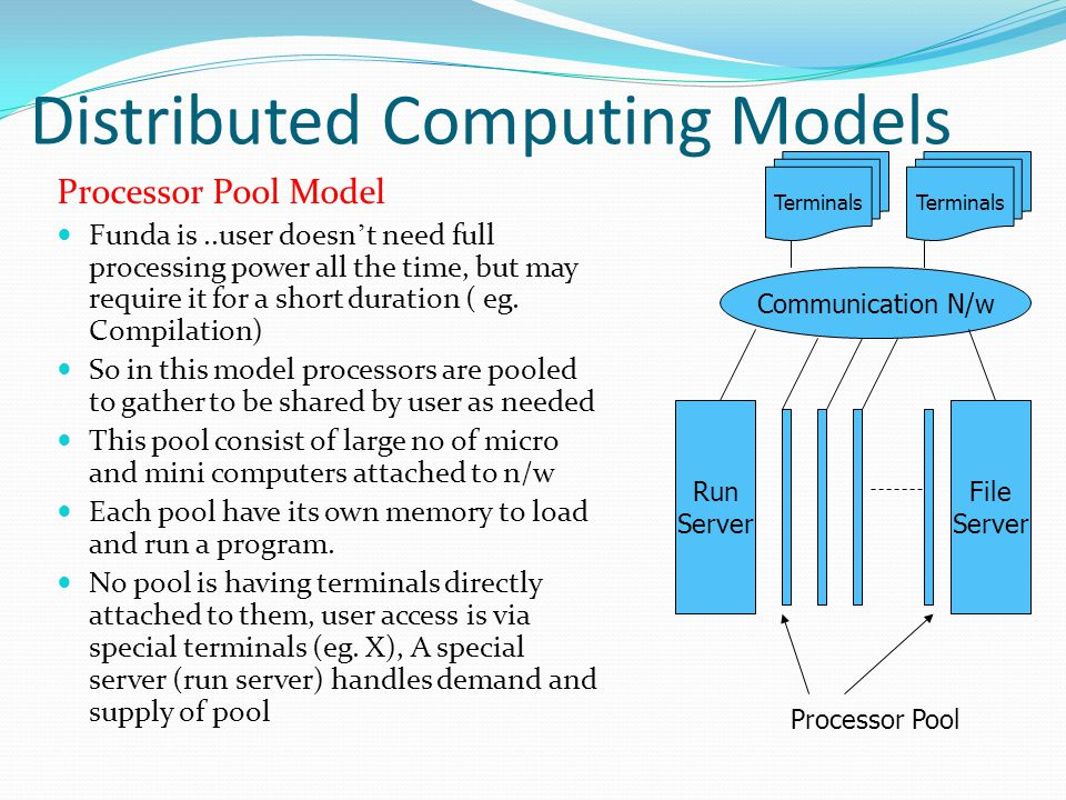 Distributed Computing Models